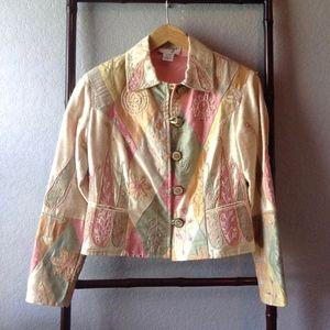 VTG. Anage Silk Beaded Embroidered Jacket Blazer